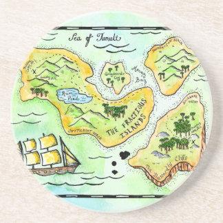 Fractious Islands Treasure Map Coaster