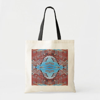 Fractured Barn - Weird Abstract Tote Bags