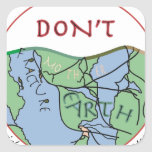 Fractured Earth--Edited.jpg Square Sticker