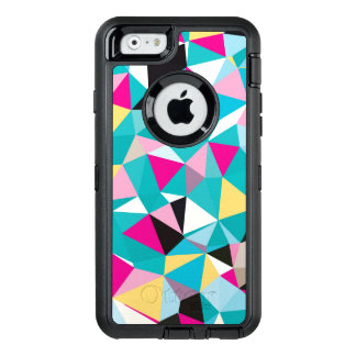 Fractured Geometric Pattern OtterBox Defender iPhone Case