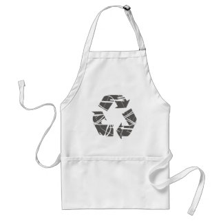 Fractured Gray Recycle Sign Adult Apron