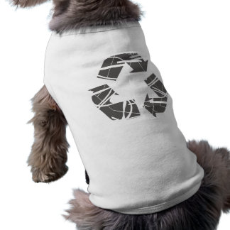 Fractured Gray Recycle Sign Pet Tshirt