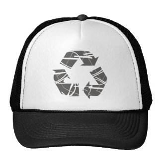 Fractured Gray Recycle Sign Trucker Hat