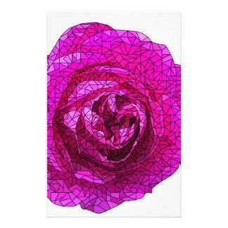 Fractured Rose Pink Stationery Design