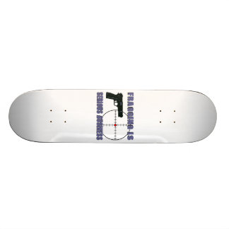 Fragging Is Serious Business 20 Cm Skateboard Deck