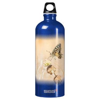 Fragile beauty of swallowtail butterfly water bottle
