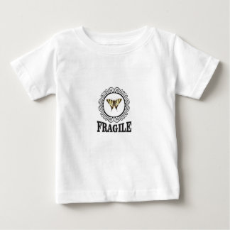 Fragile butterfly sticker baby T-Shirt