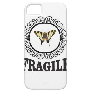 Fragile butterfly sticker case for the iPhone 5