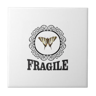 Fragile butterfly sticker ceramic tile