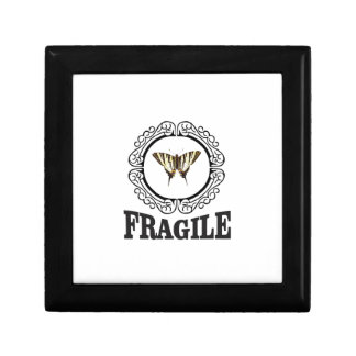 Fragile butterfly sticker gift box