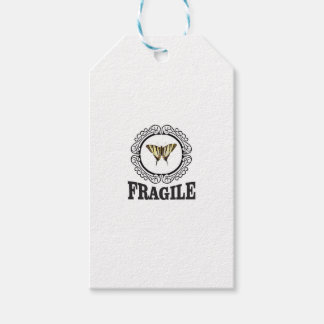 Fragile butterfly sticker gift tags
