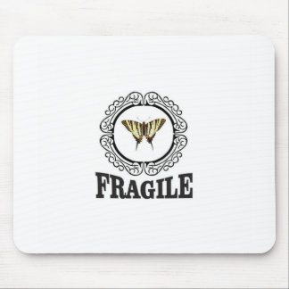 Fragile butterfly sticker mouse pad