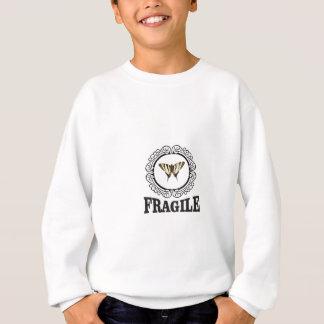 Fragile butterfly sticker sweatshirt