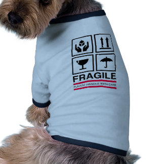 Fragile Handle with care graphic label design Pet Clothes