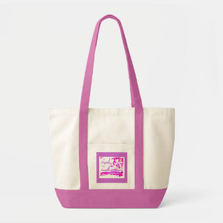 fragile handle with care pink bag