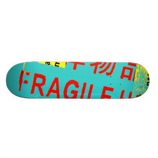FRAGILE Markings - Torn Peeled Package Skateboard