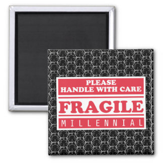 Fragile Millennial, Handle With Care Bubble Wrap Magnet