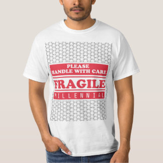 Fragile Millennial, Handle With Care Bubble Wrap T-Shirt