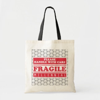 Fragile Millennial, Handle With Care Bubble Wrap Tote Bag