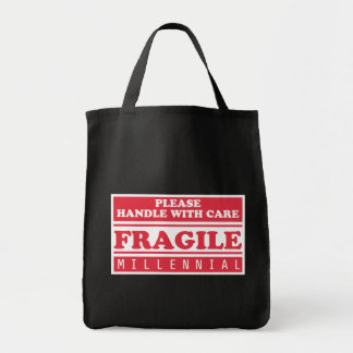 Fragile Millennial, Handle With Care Tote Bag