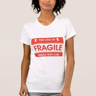 Fragile Sign Womens T-Shirt