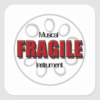 Fragile Steel Pan  Stickers