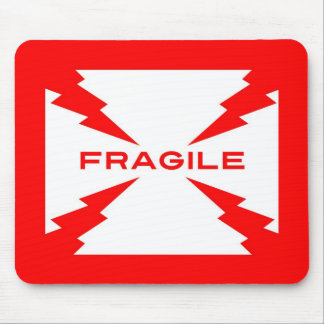 Fragile Symbol Mouse Pad