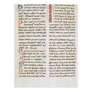 Fragment from a Cathar manuscript Postcard