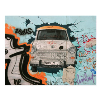 Fragment of Berlin wall Postcard