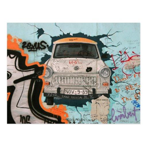 Fragment of Berlin wall Postcards
