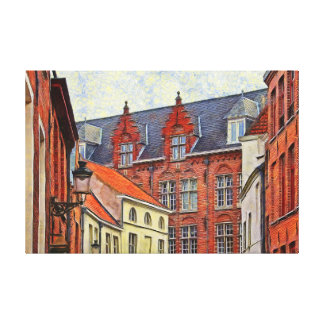 Fragment of the architecture of St. John in Bruges Canvas Print