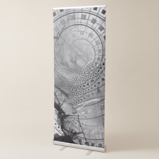 Fragmented Fractal Memories and Shattered Glass Retractable Banner