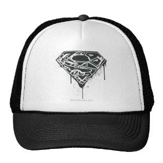 Fragmented Splatter Superman Logo Trucker Hat