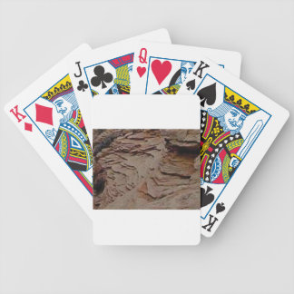 fragments chips in rock bicycle playing cards