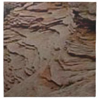 fragments chips in rock napkin