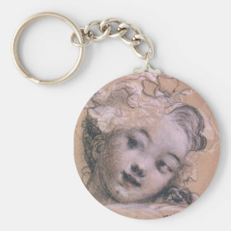 Fragonard Girl Key Ring
