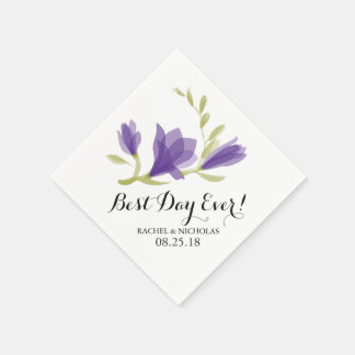 Fragrant Freesia Petals | Best Day Ever! Disposable Serviette