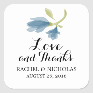Fragrant Freesia Petals | Favor Thank You Square Sticker