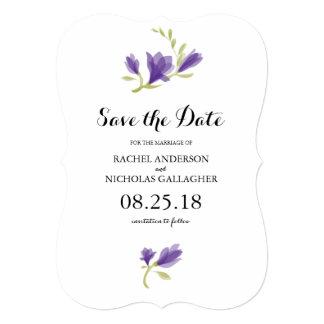 Fragrant Freesia Petals | Save the Date 13 Cm X 18 Cm Invitation Card