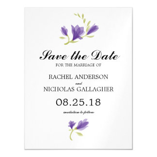 Fragrant Freesia Petals | Save the Date Magnetic Card