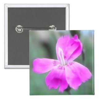 Fragrant Garden Pinks Pinback Buttons