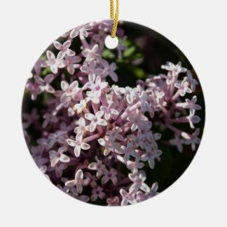 Fragrant Lilac Round Ceramic Decoration