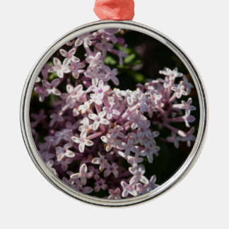 Fragrant Lilac Silver-Colored Round Decoration