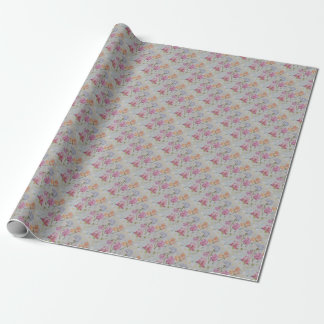 FRAGRANT SWEET PEAS WRAPPING PAPER