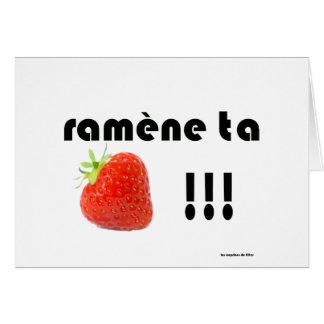 fraise carte