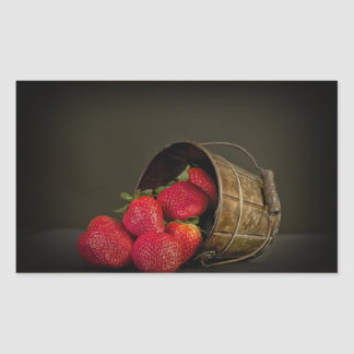 Fraise in pot rectangular sticker