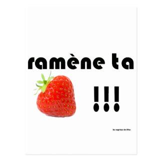fraise carte postale