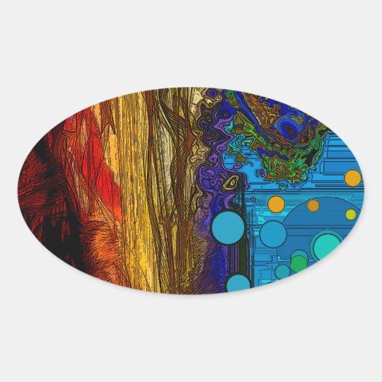 Fram - Abstract Art Oval Sticker