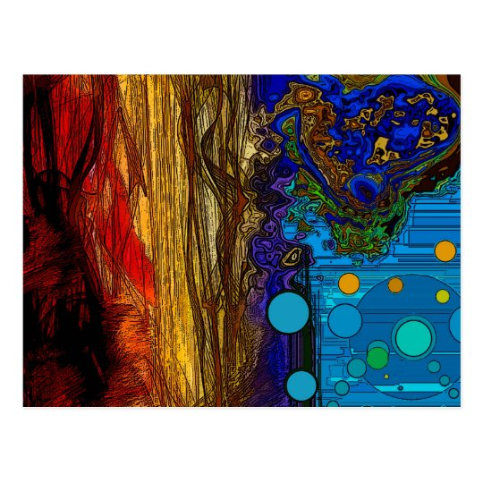 Fram - Abstract Art Postcard