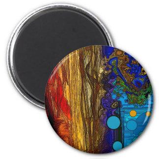 Fram - Abstract Art Refrigerator Magnet